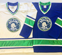 Load image into Gallery viewer, Custom Hockey Jerseys with a Rolling Rock Team Logo $59