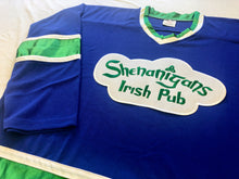Load image into Gallery viewer, Custom Hockey Jerseys with the Shenanigans Irish Pub Team Logo $59