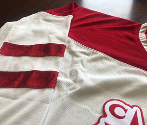 Custom Hockey Jerseys with a Team Canada Style Embroidered Logo $59
