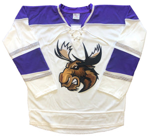Custom Hockey Jerseys with a Moose Embroidered Twill Logo $59