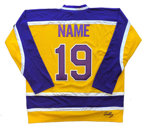 Custom Hockey Jerseys with the Ironmen Embroidered Twill Logo $59