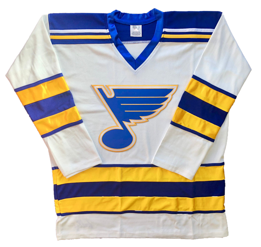 Custom Hockey Jerseys with a Blues Embroidered Twill Crest $59