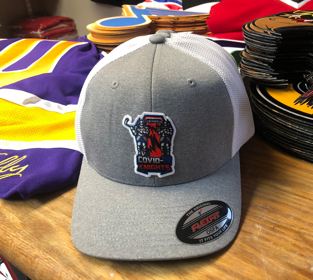 Flex-Fit Hat with the Knights crest / logo $42 (Grey / White)