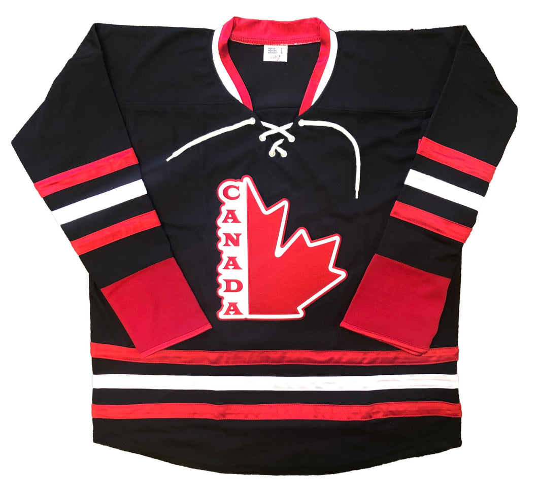 Custom Hockey Jerseys with a Team Canada Embroidered Twill Crest $59
