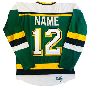 Custom Hockey Jerseys with the North Stars Twill Logo $59