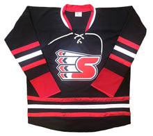 "Load image into Gallery viewer, Custom Hockey Jerseys with a ""S"" Embroidered Twill Logo $59"