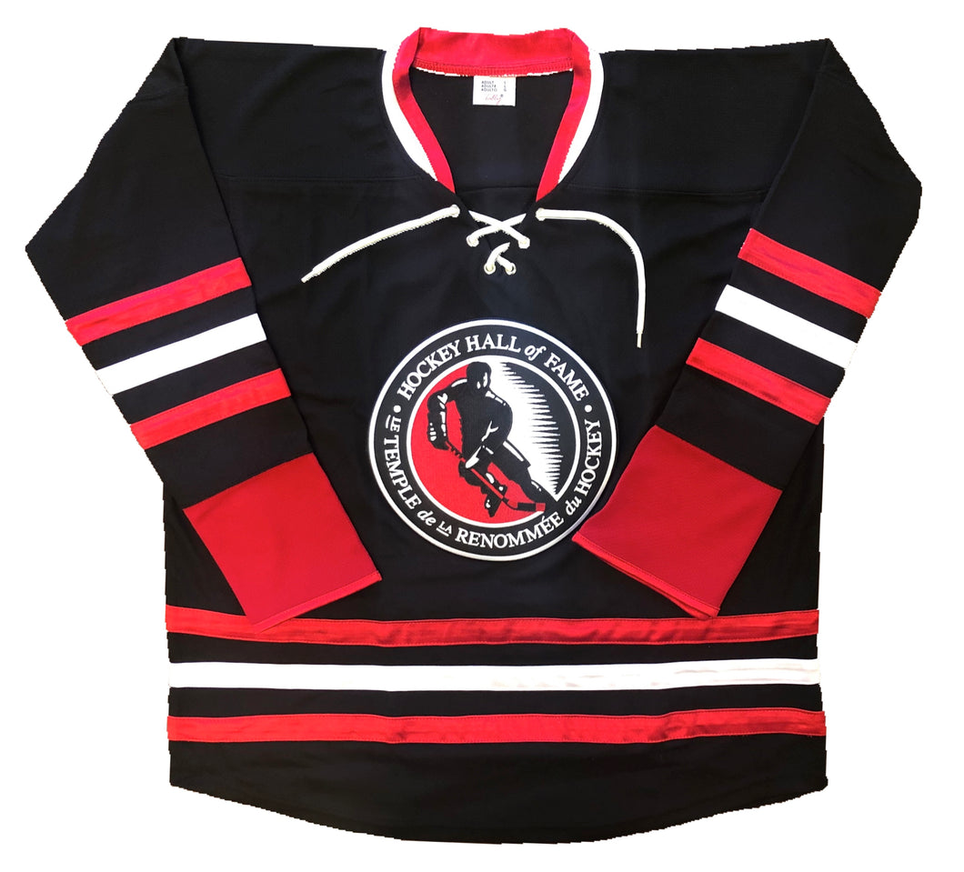 Custom Hockey Jerseys with a Hockey Hall of Fame Embroidered Twill Logo $59