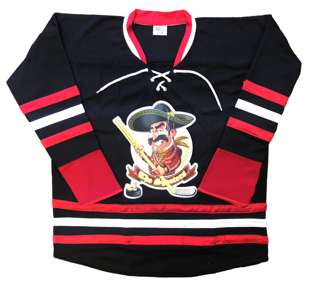 Custom Hockey Jersey with The Shooters Embroidered Twill Logo $59