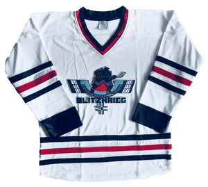 Custom Hockey Jerseys with the Blitzkrieg Twill Logo $59