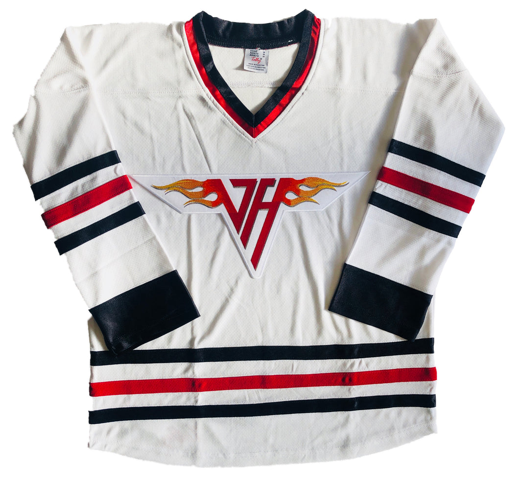 Custom Hockey Jerseys with the Van Halen Team Logo $59