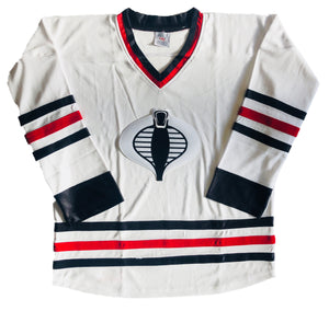 Custom Hockey Jerseys with a Cobra Embroidered Twill Logo $59