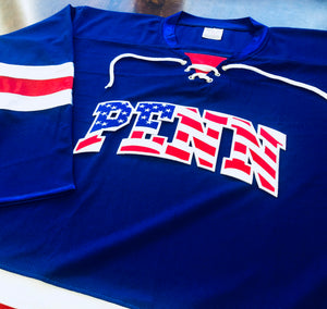 Custom Hockey Jerseys with a PENN Embroidered Twill Logo $59