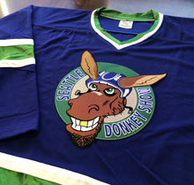 Load image into Gallery viewer, Custom Hockey Jerseys with a Seattle Donkey Show Embroidered Twill Logo $59