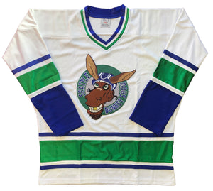 Custom Hockey Jerseys with a Seattle Donkey Show Embroidered Twill Logo $59