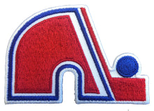 Load image into Gallery viewer, Flex-Fit Hat with a Nordiques style crest / logo $39 (White / White)