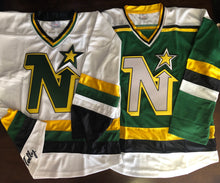 Load image into Gallery viewer, Custom hockey jerseys with North Stars logo