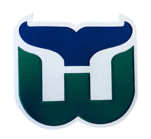 The Whalers embroidered twill logo