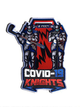 Load image into Gallery viewer, COVID-19 embroidered twill logo