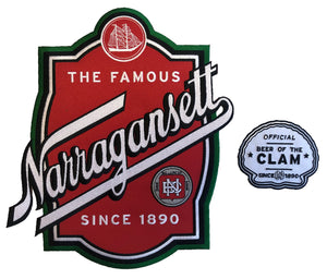 Narragansett embroidered twill logo and shoulder crest