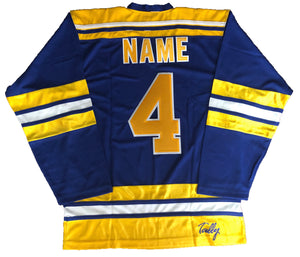 Custom Hockey Jerseys with a Chiefs Embroidered Twill Logo $59