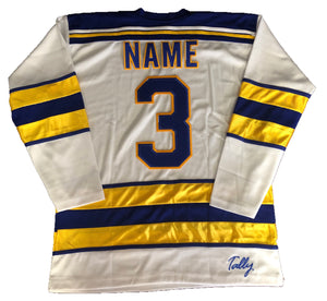 Custom hockey jerseys with the Loose Cannons logo