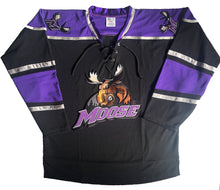 Load image into Gallery viewer, Custom hockey jerseys with the Moose logo