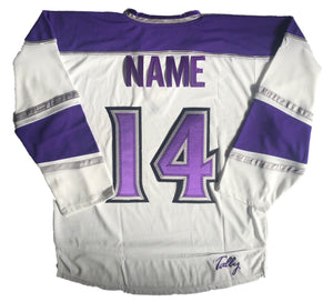 Custom Hockey Jerseys with the Kings Twill Crest $59