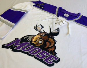 Custom hockey jerseys with the Moose logo