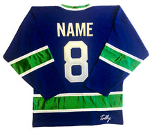 Load image into Gallery viewer, Custom Hockey Jerseys with the Johnny Canuck Twill Logo $59