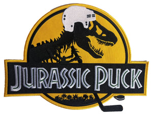 The embroidered twill Jurassic Puck logo