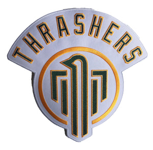 The Thrashers embroidered twill team logo.
