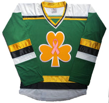 Load image into Gallery viewer, Custom hockey jerseys with 3 Leaf Clover embroidered twill crest