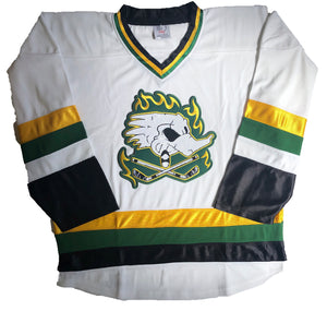 Custom hockey jerseys with Dirty Ducks logo
