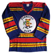 Load image into Gallery viewer, Custom hockey jerseys with the Skateful Dead team logo.