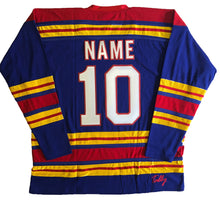 Load image into Gallery viewer, Custom hockey jerseys with the Scouts embroidered twill team logo.