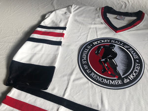 Custom hockey jerseys with the Hockey Hall of Fame logo