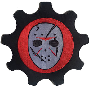 The Scar Goalie Mask embroidered twill team logo.
