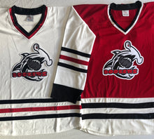 Load image into Gallery viewer, Custom hockey jerseys with the Boozers logo