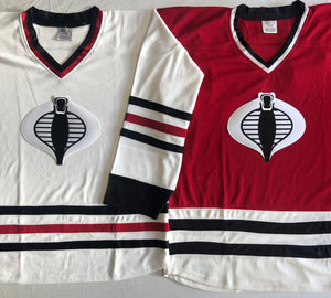 Custom hockey jerseys with the Cobra logo