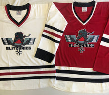 Load image into Gallery viewer, Custom hockey jerseys with Blitzkrieg logo