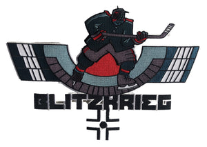 The Blitzkrieg embroidered twill logo