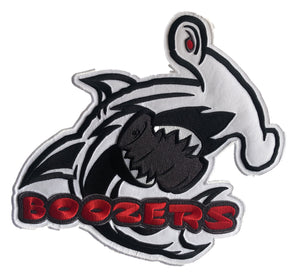 The Boozers embroidered twill logo