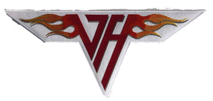 The embroidered twill Van Halen team logo.