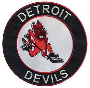 Custom Hockey Jerseys with a Detroit Devils Embroidered Twill Logo $59