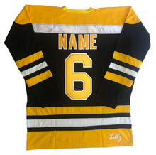 "Load image into Gallery viewer, Custom hockey jersey with ""R"" embroidered twill team logo"