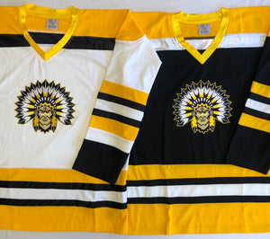 Custom hockey jerseys with an Indian logo