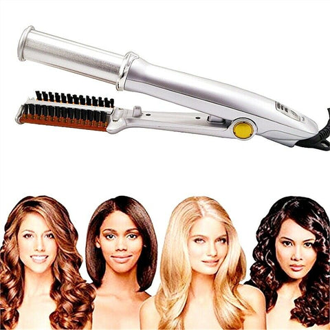 Rotating Curling Iron - Spinning Curling Iron - Rotating Curling Iron Brush