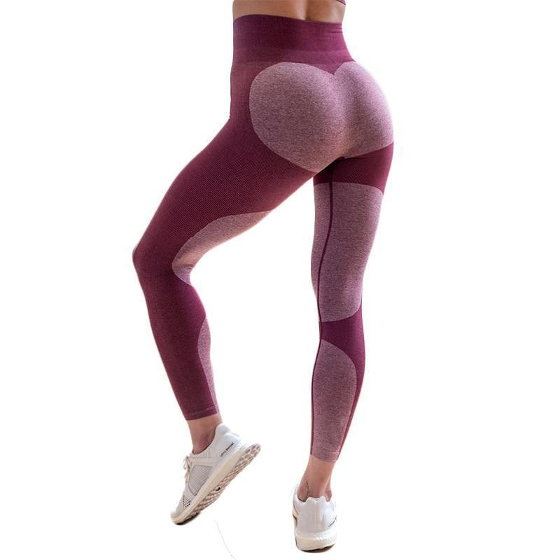 Two Tone Heart Leggings