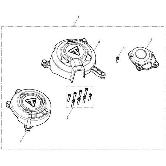 Triumph Protector Covers Kit A9618132