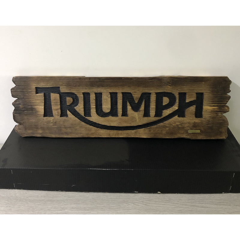 Triumph Limited Edition Handcrafted Wall Sign